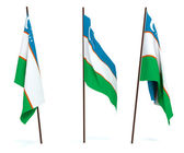 Flag of Uzbekistan — Stock Photo