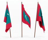 国旗的马尔代夫 — 图库照片