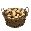 Basket with golden eggs — Stock Photo #2568091