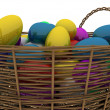Basket with golden eggs — Stock Photo #2568336