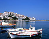 The port of Skopelos — Stock Photo
