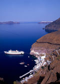Santorini port — Stock Photo