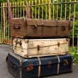 Royalty-Free Stock Photo: Old suitcases