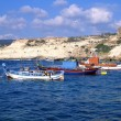 Stock Photo: Three fishing boats off coast of Cyp