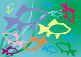 Fish colour — Stock Vector