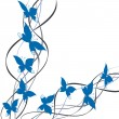 Stockvector : Title page butterfly and line