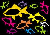 Colour fish — Stock Vector