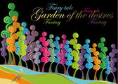 Garden of the desires — Stock Vector