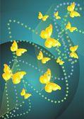 Gelbe Schmetterling — Stockvektor