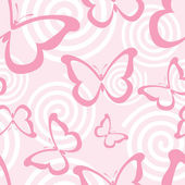Pink butterflies — Stock Vector