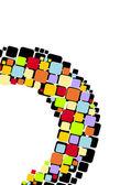 Colour squares — Stock Vector