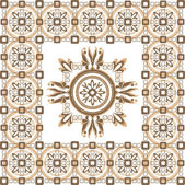 Beige pattern with ornament — Stock Vector