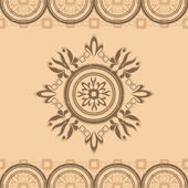 Beige pattern without seam with ornament — Stock Vector