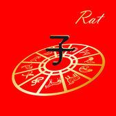 Chinese horoscope — Stock Vector