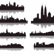 图库矢量图片: Silhouettes of world cities