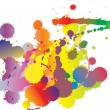 Royalty-Free Stock Vector Image: Set of four rainbow-colored ink splats