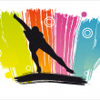 Royalty-Free Stock Vector Image: Speed skating. Vector illustration