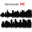 Datalnyj silhouette Vancouver — Stock Vector #2262845