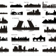 Stockvector : Popular cities of world