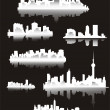 Popular cities of the world — Stock Vector