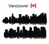 Datalnyj silhouette Vancouver — Stock Vector
