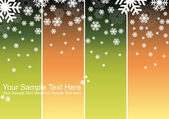 Slowly falling snowflakes — Stock Vector
