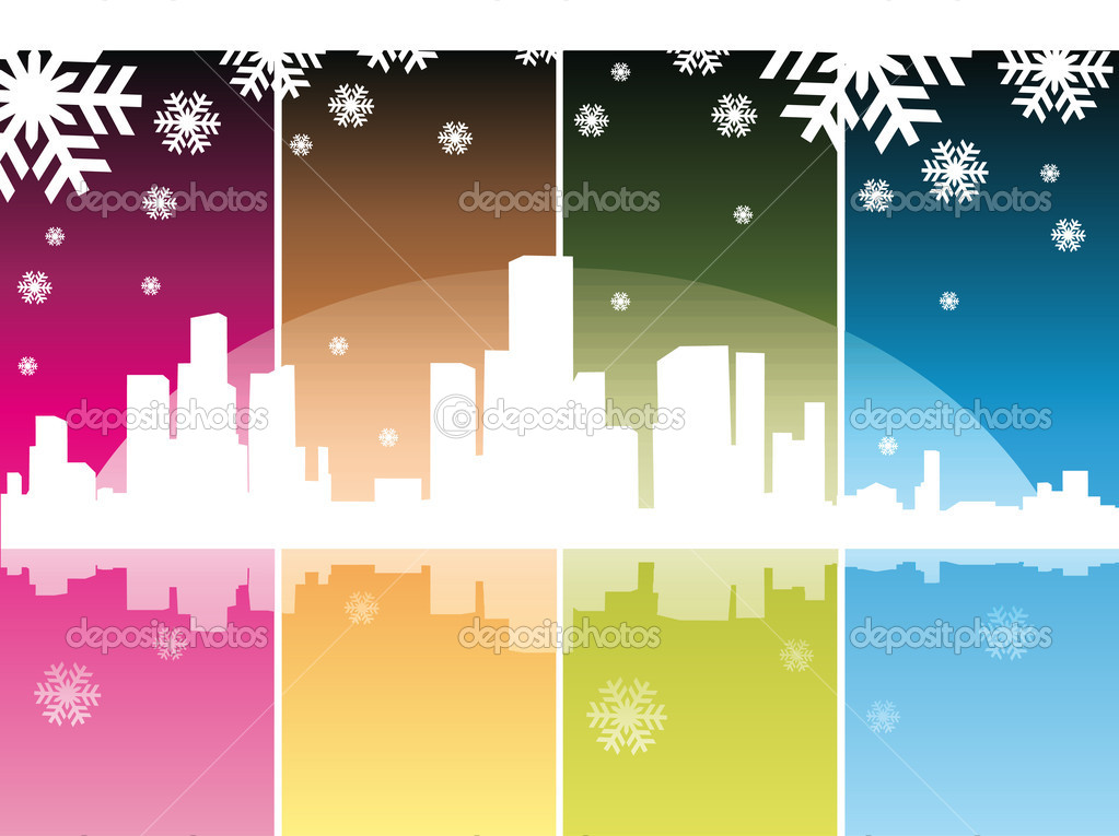 Datalnyj silhouette of the city  — Stock Vector #2263840