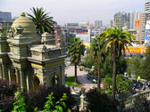 Old and new, Santiago — Stock Photo