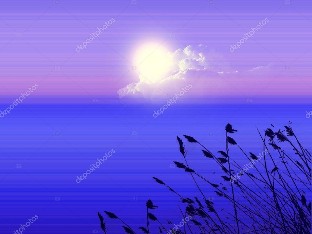 Nature background, night close to the sunrise — Stock Photo #1414486