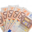 Stock Photo: Paper euro currency