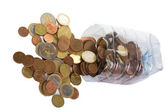Euro coins on the table — Stock Photo