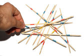 Pick up sticks mikado game — Stock Photo