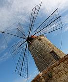Windmill in a salt mine — Stock Photo