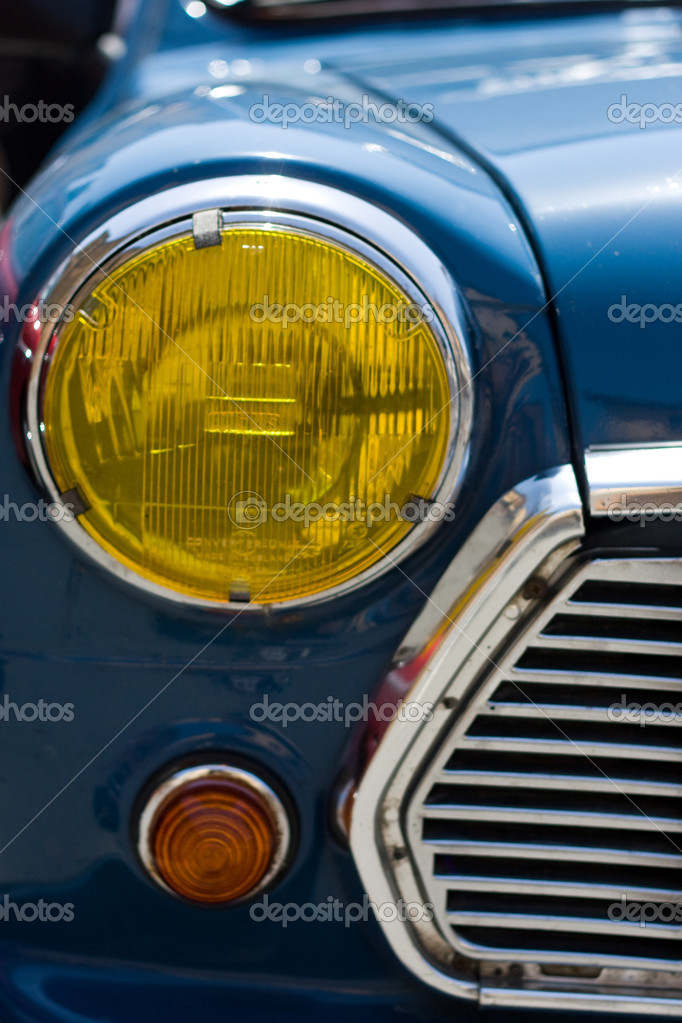 Old car headlight front view  Stock Photo #1030934