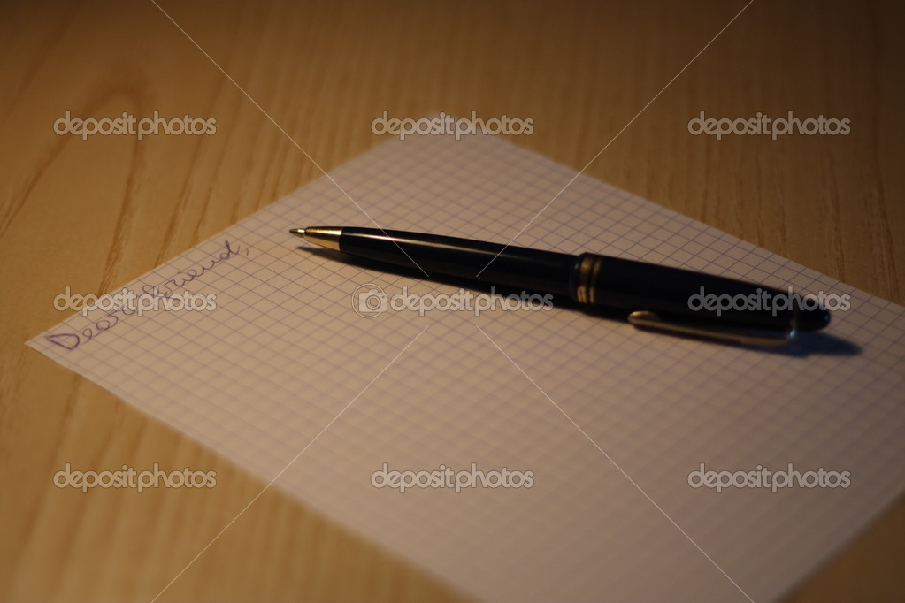 Just started writing to a friend — Stock Photo #1036961