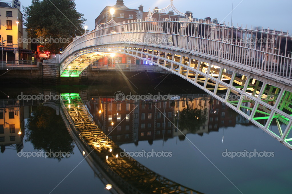 Dublin at sunset — Stock Photo #1041807