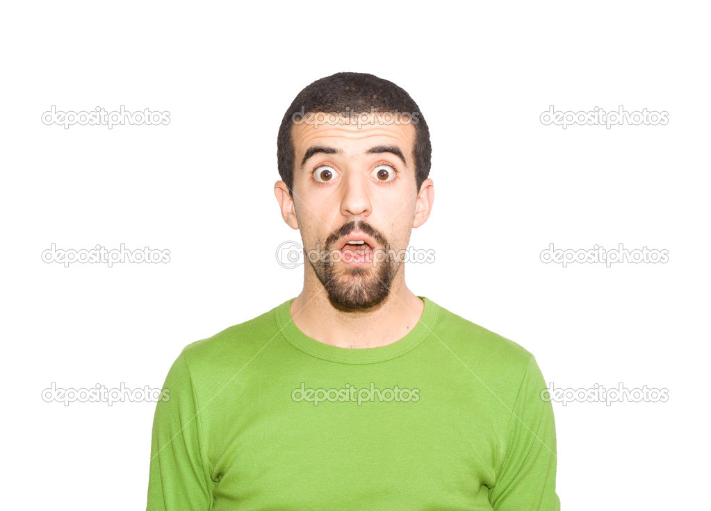 Man seems to be surprise — Stock Photo #1185467