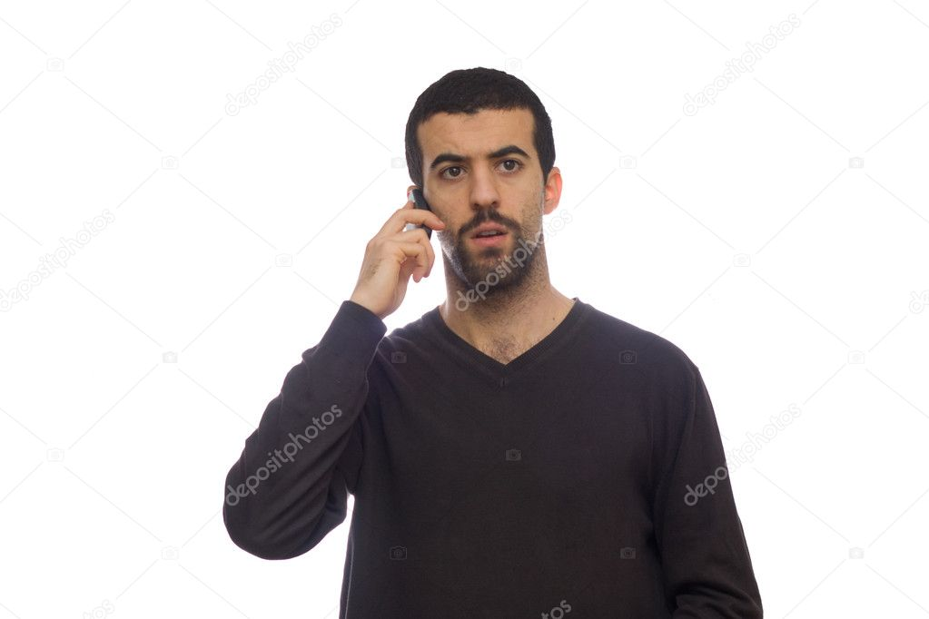 Man using a mobiel telephone  Stock Photo #1534944