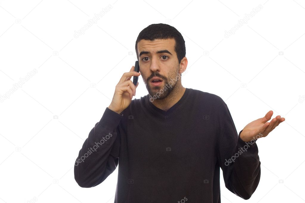 Man using a mobiel telephone  Stock Photo #1534951