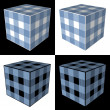 Four cubes — Stock Photo