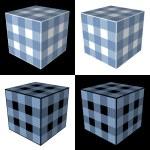 Four cubes — Stock Photo