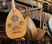 Musical instrument in egyptian bazaar — Stock Photo