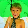 Royalty-Free Stock Photo: Boy Under  Umbrella
