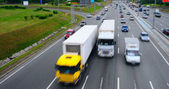 Highway With Lots Of Car With Motion Blur. — Stock Photo