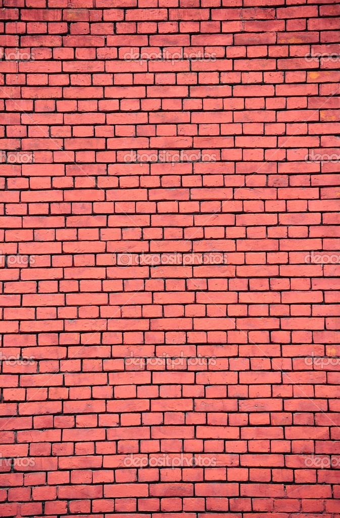 Dark Red Brick Wall, Can Be Used As Background — Stock Photo #1036123