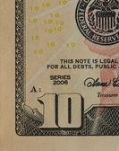 Tio dollar. — Stockfoto