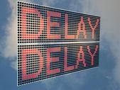 Delay — Stock Photo