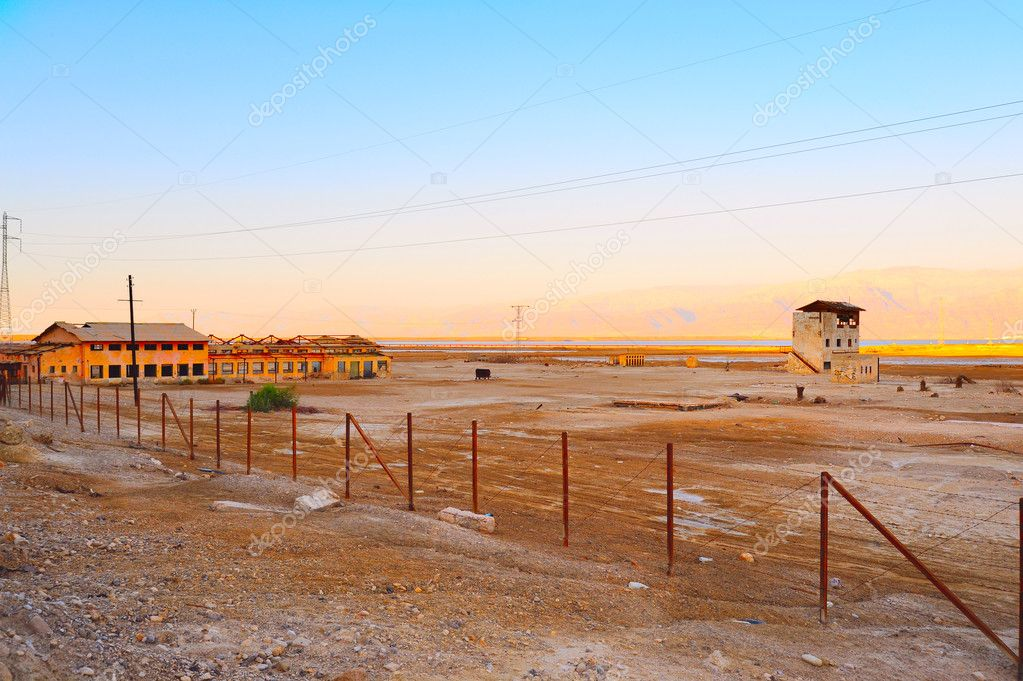 Neglected Old Plant Near Dead Sea, Israel. — Stock Photo #1060911