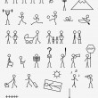 Royalty-Free Stock Imagem Vetorial: Pictograms