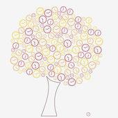 Klocka träd — Stockvektor